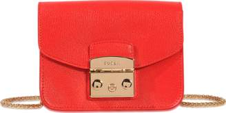 Furla Metropolis Mini Crossbody Bag in Ruby Ares Leather