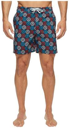 Original Penguin Circle Logo Fixed Volley Men's Swimwear