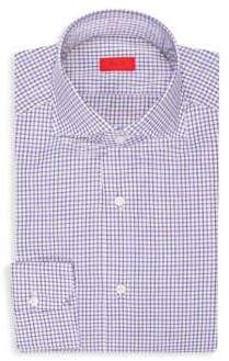 Isaia Checker Dress Shirt