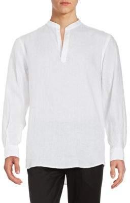 Perry Ellis Linen Pullover Shirt