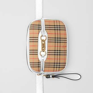 Burberry The 1983 Check Link Bum Bag with Leather Trim