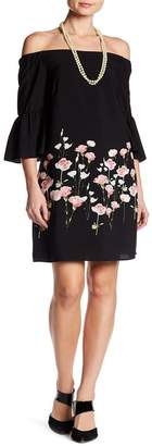 Cynthia Steffe CeCe by Evelyn Floral Off-the-Shoulder Dress