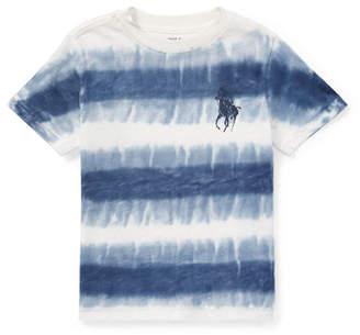 Ralph Lauren Tie-Dye Short-Sleeve Knit Top, Size 5-7
