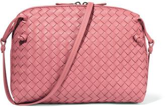 Bottega Veneta - Messenger Small Intrecciato Leather Shoulder Bag - Antique rose $1,580 thestylecure.com