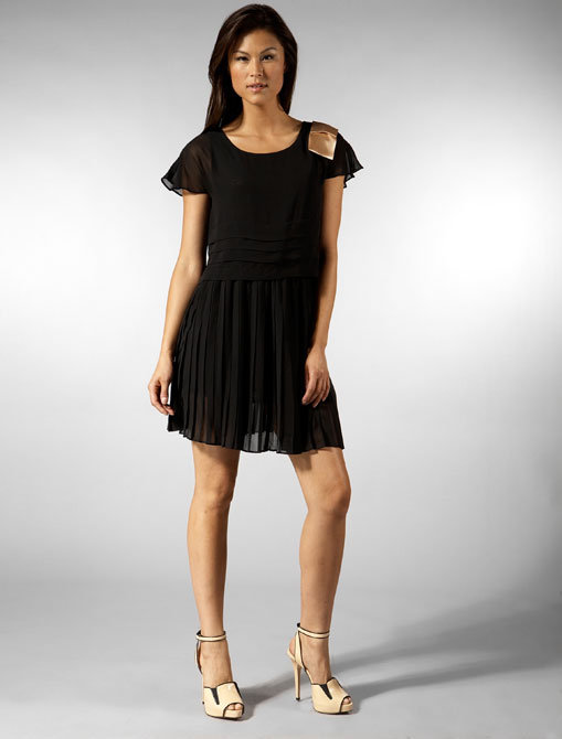 April May Charles Short Sleeve Dress in Black
