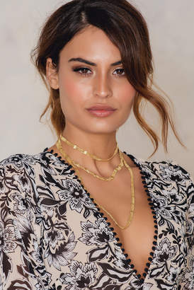 Na Kd Accessories Long Flat Chain Necklace Gold