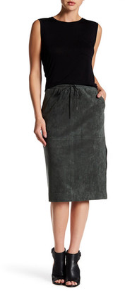 BCBGMAXAZRIA Zandra Faux Suede Skirt $178 thestylecure.com