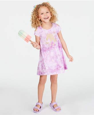 Epic Threads Super Soft Little Girls Tie-Dyed Unicorn Dress