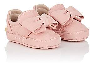 Buscemi Infants' Bow Nubuck Sneakers-Pink