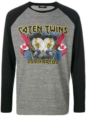 DSQUARED2 Caten Twins raglan sleeve T-shirt