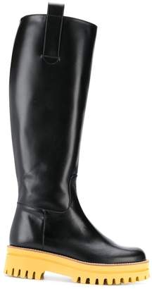 Paloma Barceló Wellington boots with contrasting sole
