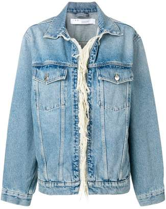 IRO fringed denim jacket