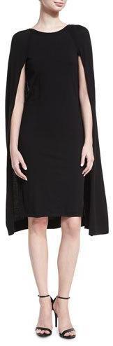 Ralph Lauren Collection Merino Wool-Blend Cape Dress