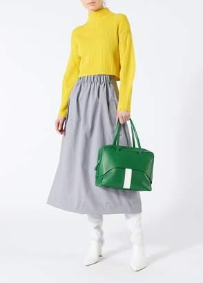 Tibi Houndstooth Smocked Waist Full Skirt