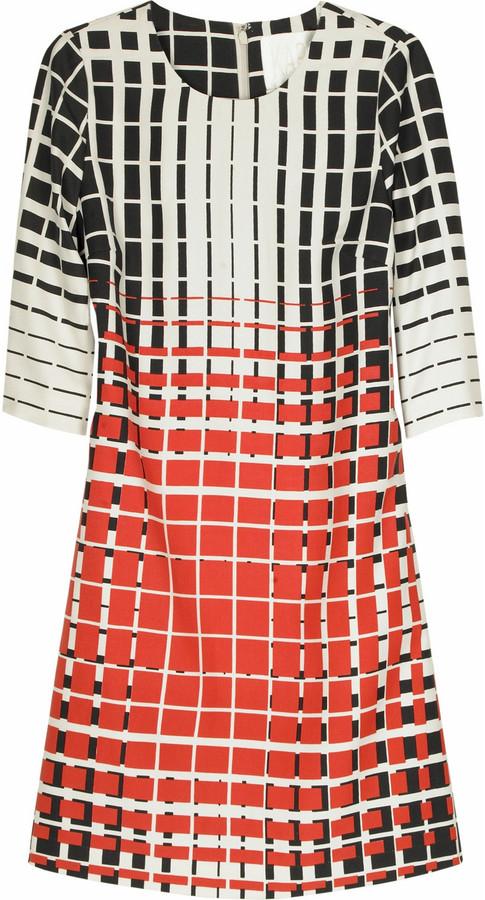 Karta Grid print dress
