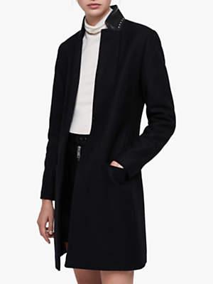 Leni Stud Coat, Black