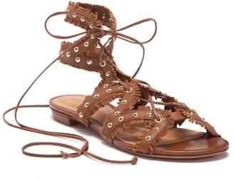 Schutz Nayara Studded Fringe Gladiator Sandal