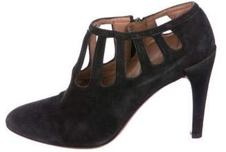 Alaia Suede Pointed-Toe Booties