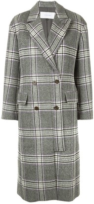 Le Ciel Bleu checked double breasted coat