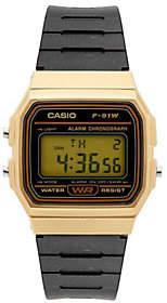 Casio Men's Black and Gold Digital Watch