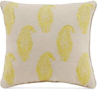 "Vera Bradley Yellow Paisley 16"" Square Decorative Pillow"