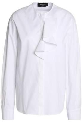 Rochas Draped Stretch-Cotton Poplin Shirt