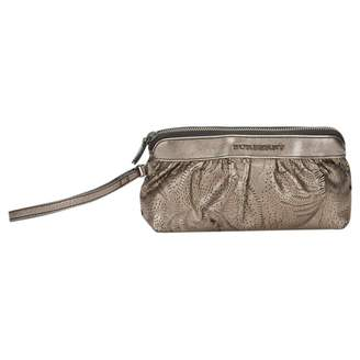 Burberry Metallic Leather Clutch Bag
