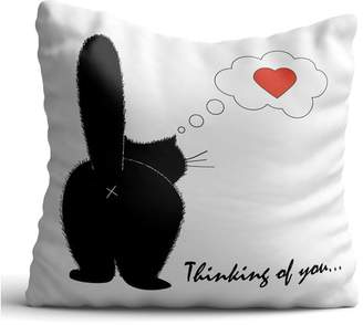 oyoconcept Back Black Cat Posture Throw Pillow