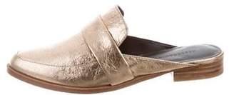 Rebecca Minkoff Leather Round-Toe Mules