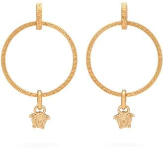 Versace Medusa Hoop Earrings - Womens - Gold