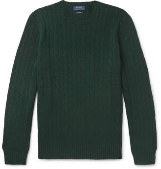 Polo Ralph Lauren Cable-Knit Cashmere Sweater - Men - Dark green