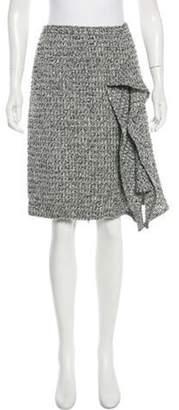 Oscar de la Renta Tweed Knee-Length Skirt Grey Tweed Knee-Length Skirt