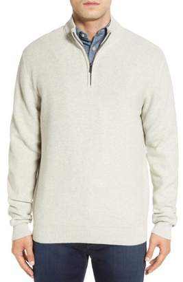 Cutter & Buck 'Benson' Quarter Zip Textured Knit Sweater