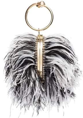 Rosantica Clio feather ball bracelet bag