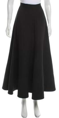 Balmain Wool Midi Skirt Black Wool Midi Skirt