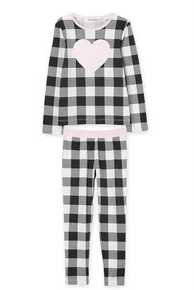 Country Road Gingham Heart Pyjama