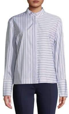 Diane von Furstenberg Striped Cotton Button-Down Shirt
