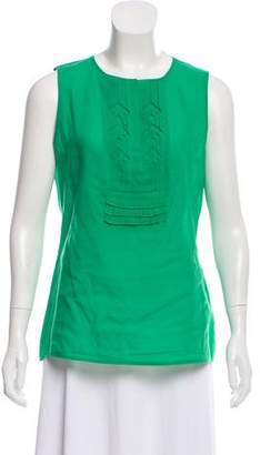 Tory Burch Sleeveless Scoop Neck Top