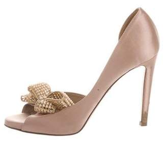Valentino Peep-Toe Bow Pumps
