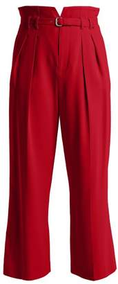 RED Valentino High Rise Notched Waist Trousers - Womens - Red