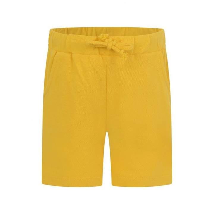 FerrariBaby Boys Yellow Cotton Pique Shorts