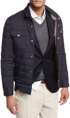 Brunello Cucinelli Milano Quilted Shirt Jacket