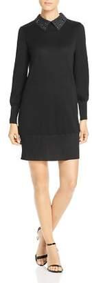 Misook Collared Sweater Dress