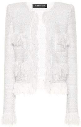 0606c89bf4d0b Balmain Exclusive to Mytheresa – Metallic bouclé jacket