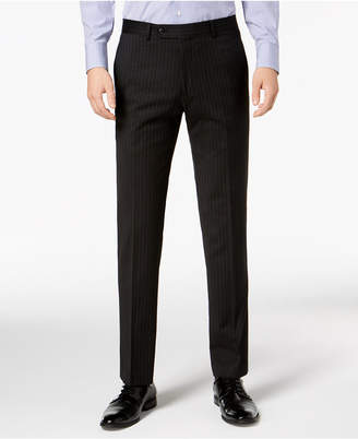 Tommy Hilfiger Men Modern-Fit THFlex Stretch Black Pinstripe Suit Pants