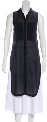Helmut Lang Sleeveless Button-Up Tunic