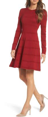 Eliza J A-Line Sweater Dress