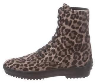 d0293c049143 Tod's Ponyhair Leopard Print Boots