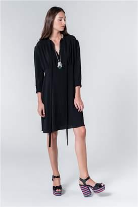 Sonia Rykiel Satin-Backed Crepe Shirt Dress
