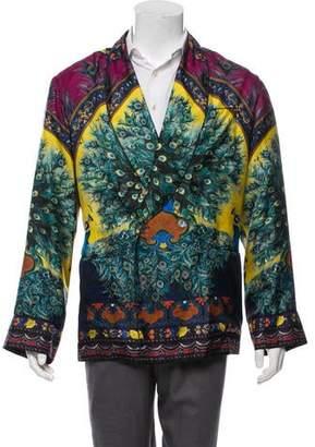 Dolce & Gabbana 2016 Silk Peacock Blazer w/ Tags